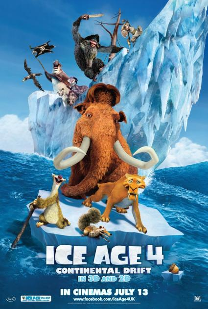 Poster Ice Age: Continental Drift (2012)