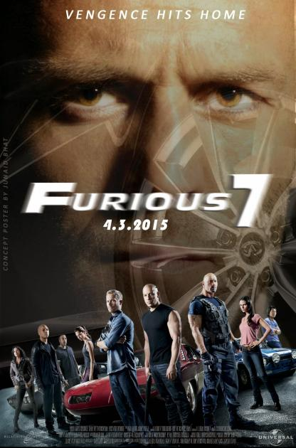 Poster Furious Seven (2015)